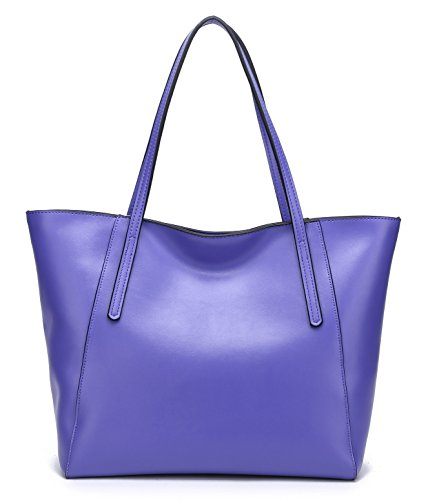 Fashinable Women's Grass Work Violet Shoulder Large Green Ultra Stylish Leather Colors Tote Lady's 22 Casual Matt Cow Matt Handbag Bag XZ5Fq
