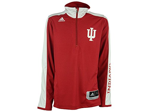 Court Shooting Jersey - Indiana Hoosiers Youth On-Court Long Sleeve Shooter T-Shirt - Crimson , Youth Small