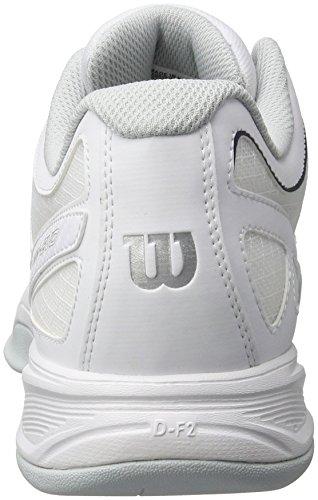 Wilson Rush Evo Carpet, Zapatillas de Tenis para Hombre Blanco (White / Pearl Blue / Navy)