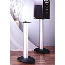 "VTI VSP Series Aluminum Speaker Stand (Set of 2) - 29"" with Grey/Silver Poles"