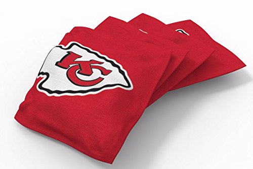 PROLINE 6x6 NFL Kansas City Chiefs Cornhole Bean Bags - Solid Design (A)