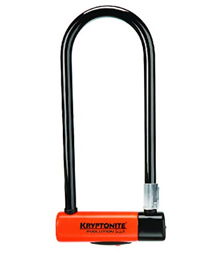 Kryptonite Evolution Series-4 LS Heavy Duty Bicycle U Lock Bike Lock with Transit FlexFrame Bracket (4-Inch x 11.5-Inch)