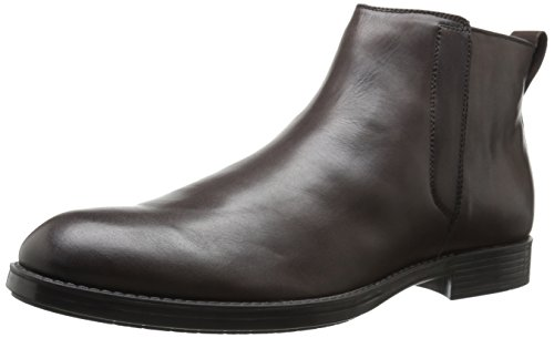 Calvin Klein Men's Hartley Leather Boot, Dark Brown, 10 M US by Calvin Klein