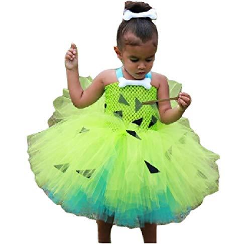 Chunks of Charm Pebble Cave Baby Green Tutu Costume Dress Set from Dot Com (3T)