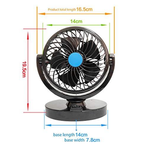 Car Fan Mini Car USB Fan Personal Cooling Vehicle Fan for Car Air  Conditioner Low Noise Portable Auto Air Cooling Fan Electric Car Fan  12V/24V