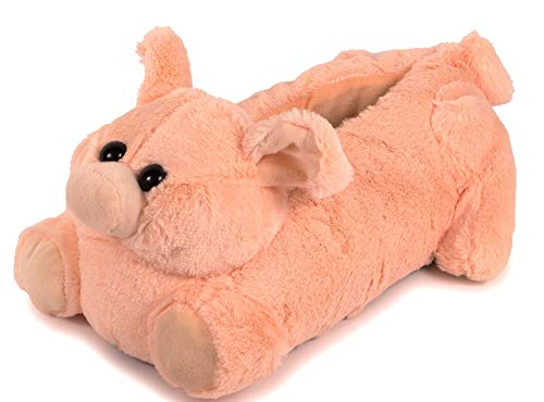 Lazy Paws Adult-Sized Pig Slippers (Size Medium Only)]()