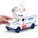 Sopu Electronic Piggy Banks, Kids Code Armored Car Password Money Bank, Mini ATM Cash Coin Bank with Lights and Music Money Safe Coin Box for Children Fun Toy