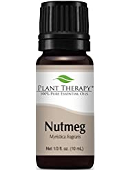 Plant Therapy Nutmeg Essential Oil. 100% Pure, Undiluted, Therapeutic Grade. 10 ml (1/3 oz).