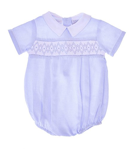 - Carriage Boutique Baby Boys Hand Smocked Classic Creeper - Zig Zag Smock, 3M