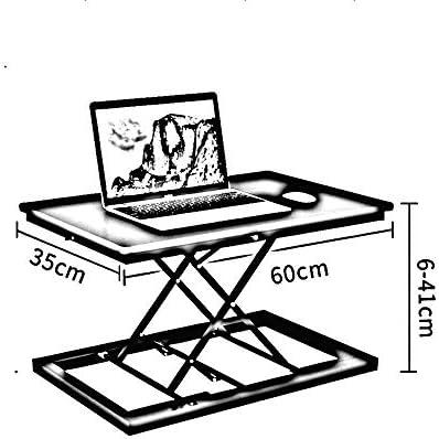 AJH Bureau d'ordinateur de Table élévatrice multifonctionnelle Bureau d'ordinateur de Base en métal Solide épais
