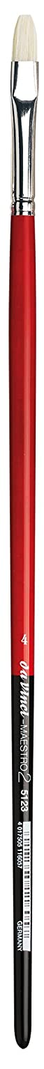 Size 1 Flat Extra-Short with Red Handle da Vinci Hog Bristle Series 7223 Maestro 2 Artist Paint Brush