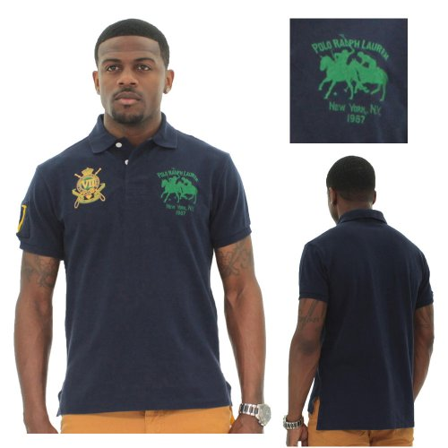 Polo Ralph Lauren Men's New York Crest Pique Polo Shirt Custom Fit