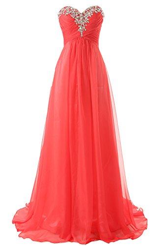 Vestidos Dama Sin Tirantes Jaeden Baile De Vestido Largo Honor Gasa Rojo Formales CAH1wHqXn