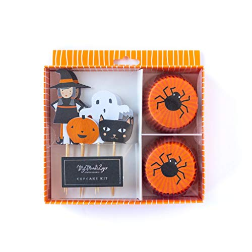 Cupcake Topper Kit Halloween Party Decorations Halloween Party 24 Cupcake Liners and 24, 3