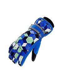 Xianheng Kids Ski Gloves Winter Warm Waterproof Windproof Thermal Children (S, Blue 2#)