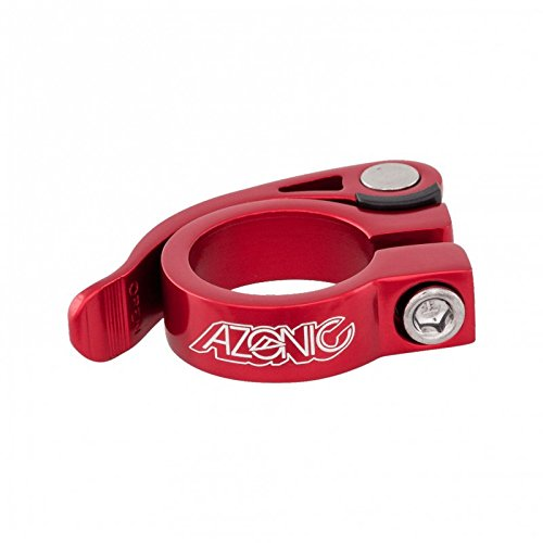 Azonic 3033-140 - Abrazadera gonzo (28.6 mm), color negro, Rojo, 31.8 mm