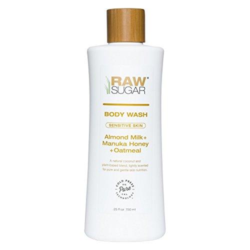 Raw Sugar Sensitive Skin Almond Milk Manuka Honey and Oatmeal Natural Body Wash 25oz, pack of 1