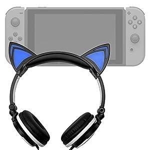 Amazon.com: Cat Headphones with Light Up Ears (in Black