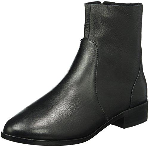Buffalo London 416-1260 Cow Leather, Zapatillas de Estar por Casa para Mujer Negro