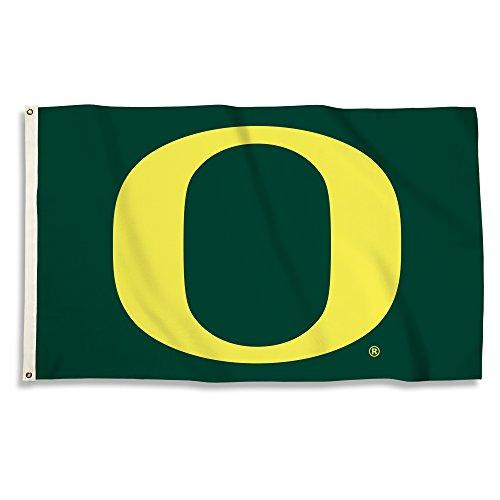 NCAA Oregon Ducks 3 x 5-Feet Flag with Grommets, Team Color, ()