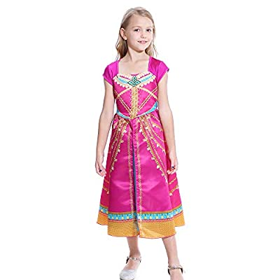 Lito Angels Girls Princess Costumes Green Birthday Halloween Fancy Dress Up with Accessiories: Clothing