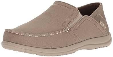 Crocs Men's Santa Cruz Convertible Slip-On Loafer, Khaki/Cobblestone, 7 M US