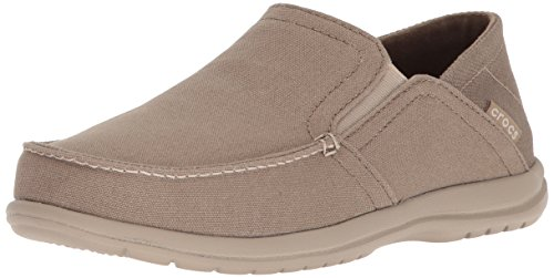 Crocs Men's Santa Cruz Convertible Slip-on Loafer, Khaki/Cobblestone, 11 M US