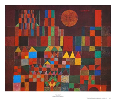 Castle and Sun Art Poster Print by Paul Klee