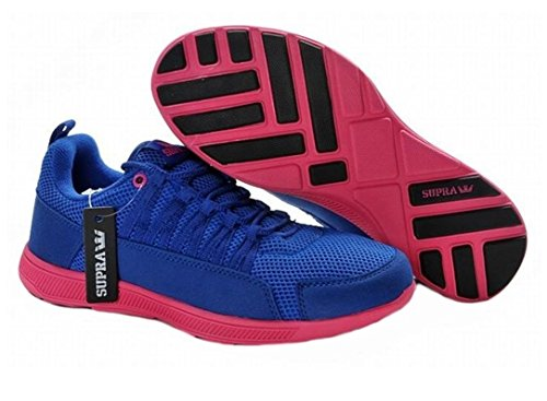 Supra Skate Shoes Royal Blue Owen Fast Mes / Pink - Running Shoes, shoe size:42.5