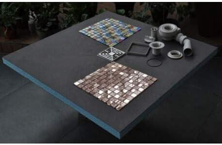 VALSTORM Listo para azulejo con sifón + Parrilla Acero Inoxidable ...