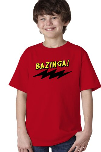 BAZINGA! Youth T-shirt / Funny TV Television Catchphrase Humor Tee