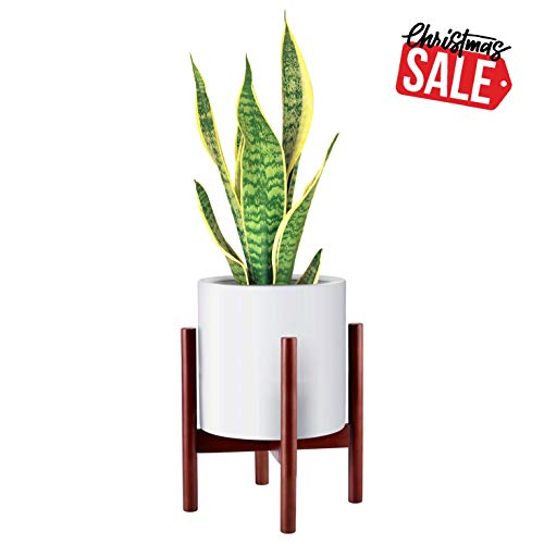 HOMENOTE Mid Century Plant Stand Indoor Modern Wood Plant Stand Perfect fits up to 10 inch Large Planter Pot(Planter not Included)