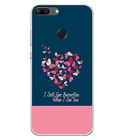 hot sale online 291e1 873f8 YuBingo Soft Silicone Designer UV Printed Waterproof Mobile Back Cover for  Huawei Honor 9 Lite (Multicolour)