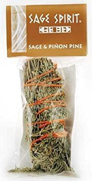 (AzureGreen RS5SP 5 in. Sage and Pinon Pine Smudge Stick)