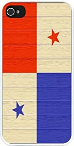 chen-shop design Rikki KnightTM Panama Flag on Distressed Wood Design iPhone 5 & 5s Case Cover (White pc with bumper protection) for Apple iPhone 5 & 5s high quality