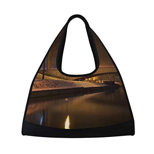 (LAZEN Tennis Bag Badminton Bag Ping-Pong Bag Gym Bag Travel Handbag High Capacity Quiet)