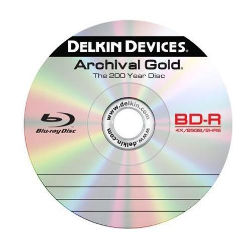 Delkin DDBD-R/10 SPIN 6X 200 Year 6x Blu-ray Disc, 10 Pack by Delkin