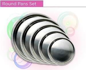 """Round Cake Pan Set 4""""-6""""-8""""-10""""-12"""""""