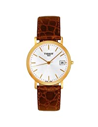 Tissot Men's Desire T52.5.411.31 Brown Leather Quartz Watch with Gold Dial