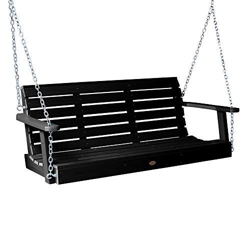 - Highwood AD-PORW2-BKE Weatherly Porch Swing, 4 Feet, Black