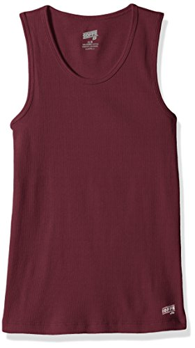 Soffe Girls' Big Basic Tank, Maroon, Medium