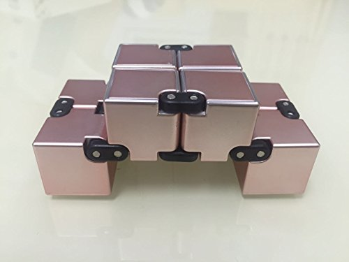 Rose gold infinity cube