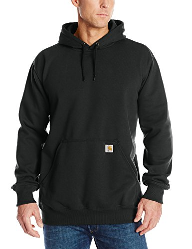 Carhartt Men's Big & Tall Rain Defender Paxton Heavyweight Hooded Sweatshirt,Black,XX-Large Tall