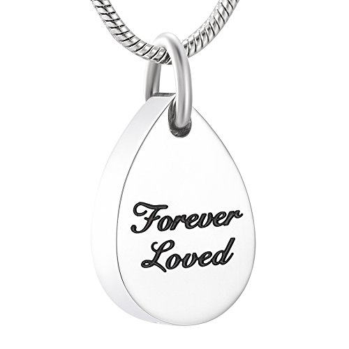 - Pendant Keepsake | Memorial Jewelry | Tear Shape | Cremation Necklace (Pendant Only)