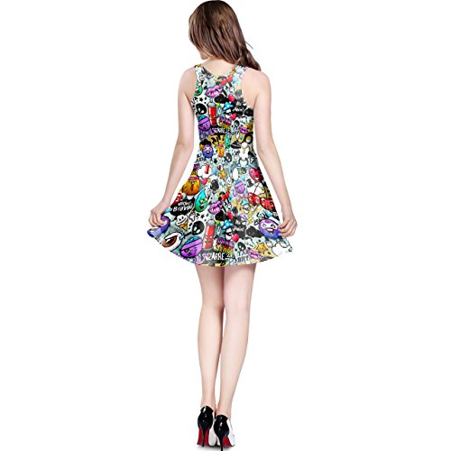 Queen of Cases - Robe - Patineuse - Sans Manche - Femme multicolore multicolore One Size