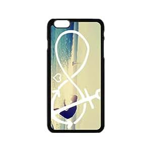 Beach Love Heart Black iPhone plus 6 case