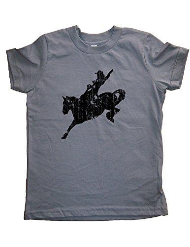 Boys Cowboy Shirt Rodeo Tshirt 2T Gray by Sunshine Mountain Tees