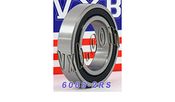 6008-2RS 40 x 68 x 15 ATV Wheel Bearing 2 Ball Bearings