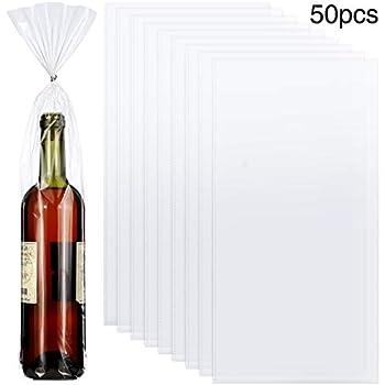 Amazon.com: Bolsas de celofán transparente para botellas de ...