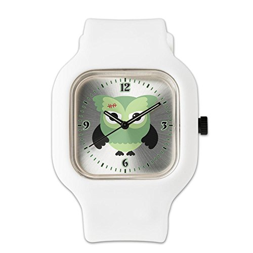 White Fashion Sport Watch Spooky Little Owl Frankenstein Monster